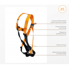 Harnais de sécurité ajustable NUS55