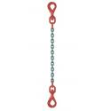 Elingue chaîne avec 1 crochet émérillon à chaque extrémité