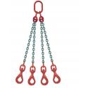 Elingue chaîne avec crochets émérillon à verrouillage automatique