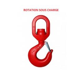 Crochet à touret rotation en charge monté sur roulements de 5.4  à 31.5 tonnes