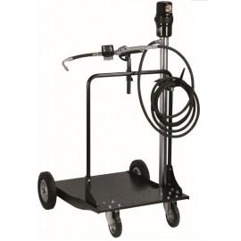 Ensemble pneumatique huile 180-220 kg avec pistolet digital et chariot