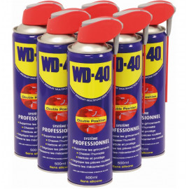 "Pack de 6 aérosoles 500 ml ""LE SMART"" WD40"
