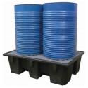Bac de rétention pour 2 fûts contenance 240 Litres charge 650 kg