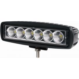 Mini-phare de travail rectangulaire, 6 LED, 18W