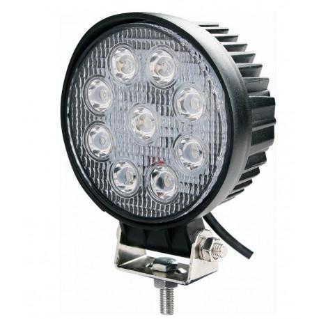 Phare de travail rond 9 LED 27W