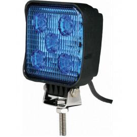 Phare de travail bleu compact, 5 LEDS, 15W