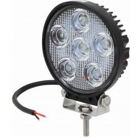 Phare de travail rond 6 LED 18W 1200 lumen