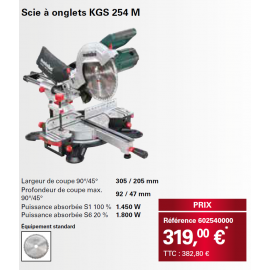 SCIE A ONGLETS METABO KGS254M