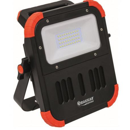 Projecteur LED rechargeable, portable avec haut-parleur bluetooth