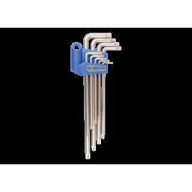 Jeu de clés mâles longues TORX® en étui - 9 pièces