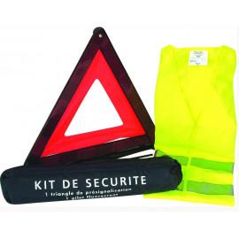 Kit de sécurité, triangle + gilet fluo taille XL