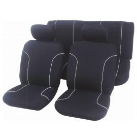 Housse de siège 100 % polyester noire