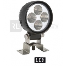 LEDS Phare de travail rond 4 leds - 10/30 Volts - ø 84 x H 111 x Ep 65 mm - IP68