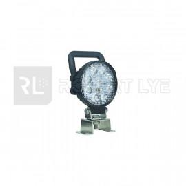 Phare de travail rond avec poignée 9 Leds OSRAM - 10/30 Volts - Ø 107 x H 133 x Ep 41,5 mm - IP67/IP69K Asymmetric Lights