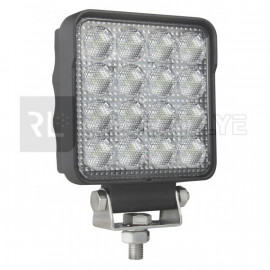 Phare de travail carré 16 Leds OSRAM - 10/30 volts - L 108 x H 139 x Ep 48 mm - IP67/IP69K Asymmetric Lights