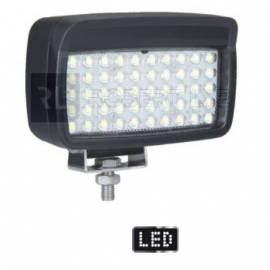 LEDS Phare de travail rectangle 50 Leds - 10/30 Volts - L 156 x H 107 x Ep 89 mm - IP67/IP69K Asymmetric Lights