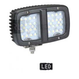 Phare de travail rectangle 36 Leds - 10/30 Volts - L 160 x H 110,8 x Ep 93,3 mm - IP67/69K
