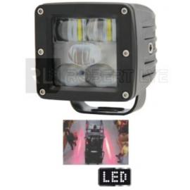 Phare de sécurité 5 Leds ligne éclairage rouge - 10/80 volts - L 80 x H 87 x Ep 80 mm - IP69K Spécial MANUTENTION