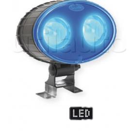 Phare de sécurité à Leds éclairage bleu - 10/80 volts - L 144 x H 137 x Ep 88 mm - IP67