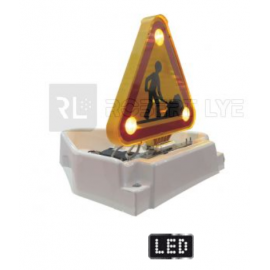 LEDS Triangle triflash double face à Leds - 12/24 Volts - Relevage électrique