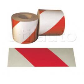 Bandes adhésives alternées pour véhicules d'intervention blanc/rouge rétro réfléchissant Classe 1(A) 46M X 14CM