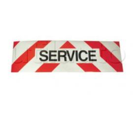 Panneau SERVICE ADHESIF pour véhicules d'intervention CLASSE 2