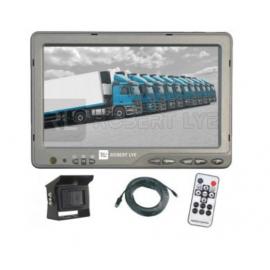 Kit de rétrovision HD 7 pouces filaire avec 1 caméra Kit 12/24 Volts composé de :