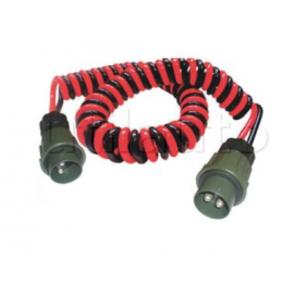 Cordons puissance équipés de connecteurs 2 pôles pour véhicules militaires HELYCORD®
