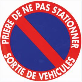 """Panneau """" ne pas stationner sortie de véhicule"""""""