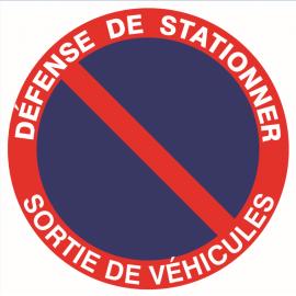 """Panneau homologué """" défense de stationner"""