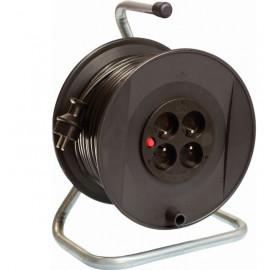 Enrouleur électrique 4 prises /50 m