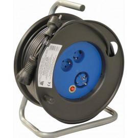 Enrouleur électrique polyvalent 3 prises 2P + 1 T / 50 m