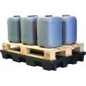 Plateforme de rétention en polyéthylène recyclé à 100%