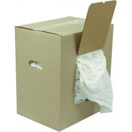 Chiffons blancs 100 % coton carton de 10 kilos