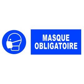 """Panneau adhésif """"port du masque obligatoire"""""""