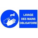 """Panneau """"lavage des mains obligatoire"""""""