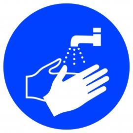"""Panneau adhésif """"lavage des mains"""""""