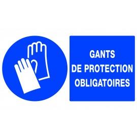"""Panneau """"gants de protection obligatoires"""""""