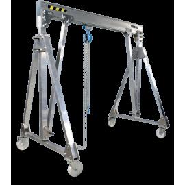 Portique aluminium pliable déplaçable en charge 1000Kg
