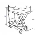 Hydraulique mobile 150 kgs
